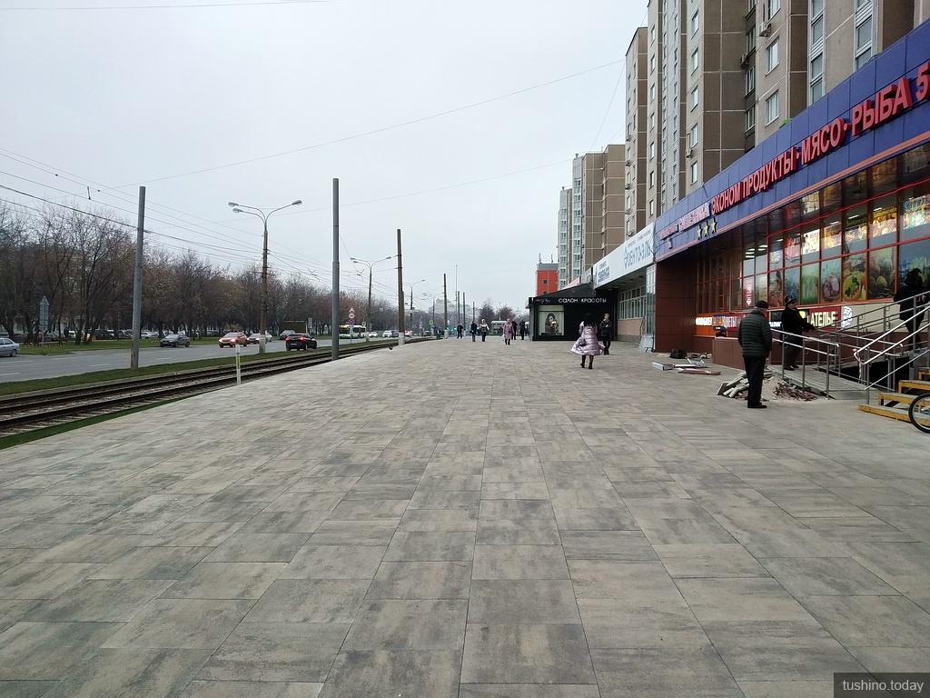 Тротуар на улице Геров Панфиловцев