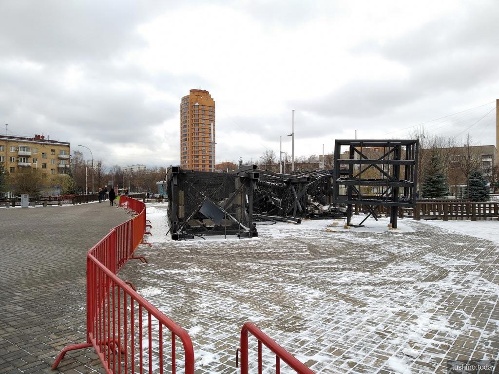Световая стела на Сходненской демонтирована